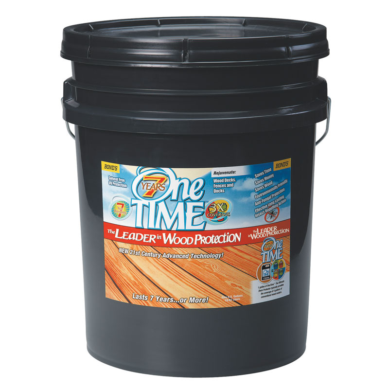One TIME® [00700] Hard Wood Protector - Red Cedar - 5 Gallon Pail