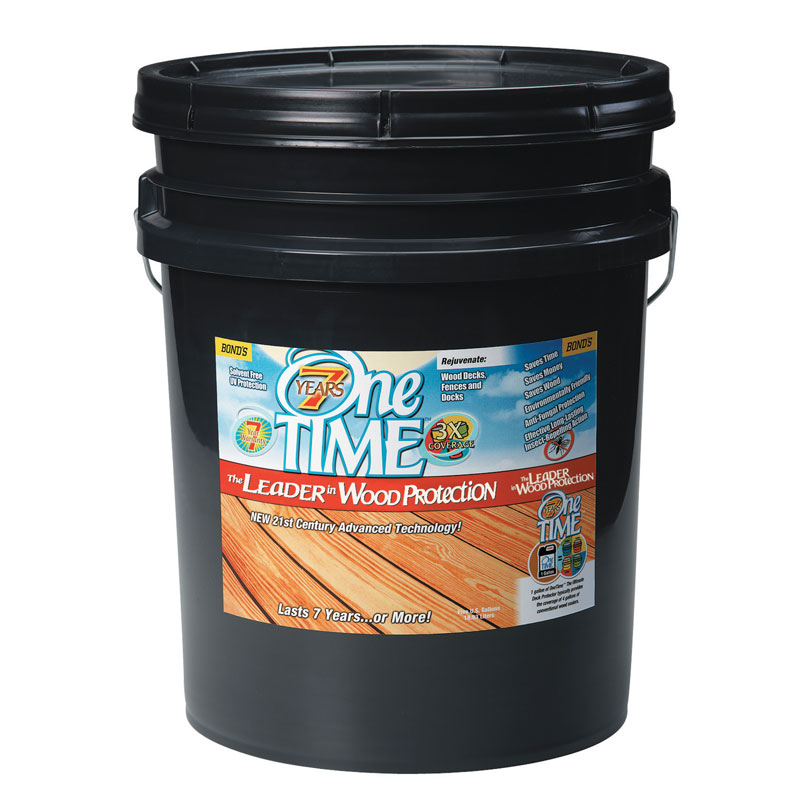 One TIME 00800 Hard Wood Protector - Clove Brown - 5 Gallon Pail