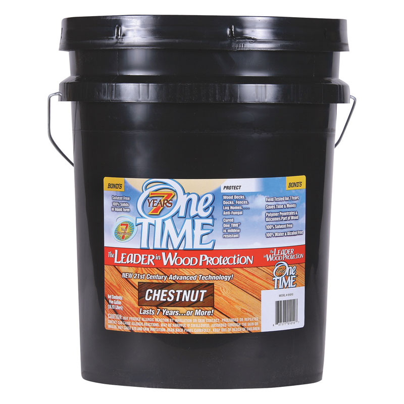 One TIME® [01010] Hard Wood Protector - Chestnut - 5 Gallon Pail