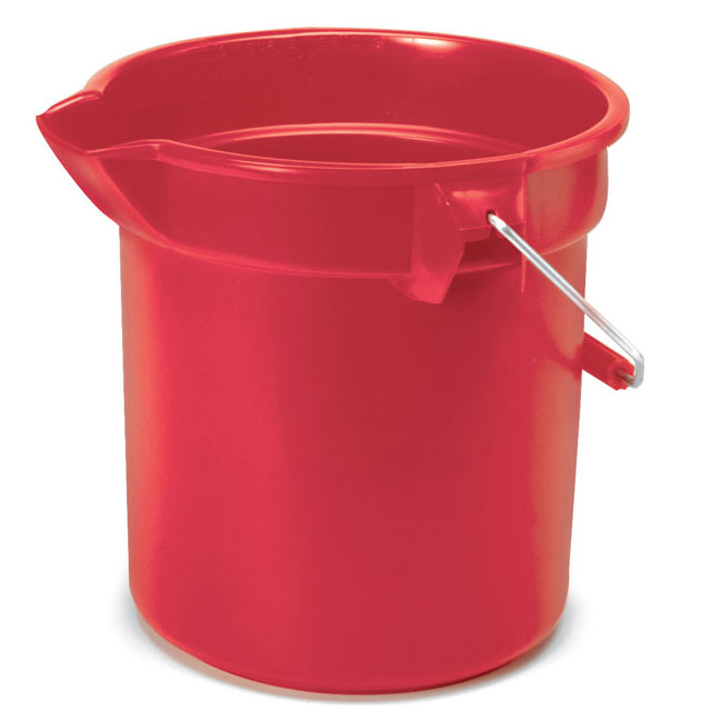 Rubbermaid [2614 RED] BRUTE® Round Bucket - Red - 14 qt.