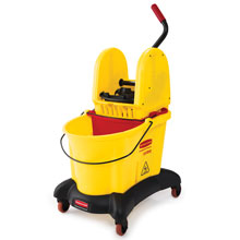 WaveBrake Dual Water Mop Bucket Combo w/ Down Press Wringer