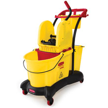 WaveBrake Mopping Trolley w/ Down-Press Wringer