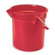Rubbermaid [2963 RED] BRUTE® Round Bucket - Red - 10 qt.