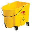 Rubbermaid [7570-88 YEL] WaveBrake® Mop Bucket w/ Caster Kit - 35 qt.