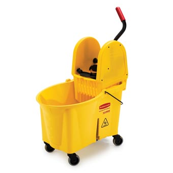 Rubbermaid [7576-88] WaveBrake® High-Capacity Foot-Activated Mop Bucket Combo w/ Downward Pressure Wringer - 44 qt.