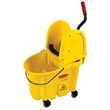 Rubbermaid [7577-88 YEL] WaveBrake® Mop Bucket Combo w/ Downward Pressure Wringer - Yellow - 35 qt.