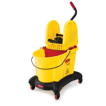 Rubbermaid [7677] WaveBrake® Dual Water Mop Bucket Combo w/ Downward Pressure Wringer - 35 qt.