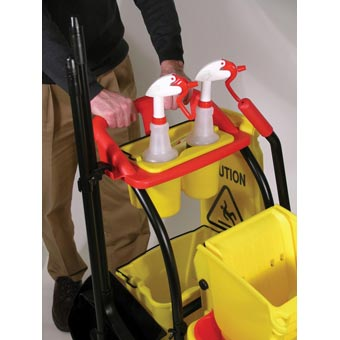 Rubbermaid [7780] WaveBrake® Mopping Trolley w/ Sideward Pressure Wringer - 35 qt.