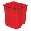 Rubbermaid [9C74 RED] WaveBrake® Dirty Water Mop Bucket - Fits 35 qt. Bucket