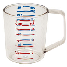8 oz. Clear Bouncer Measuring Cup RCP3210CLE