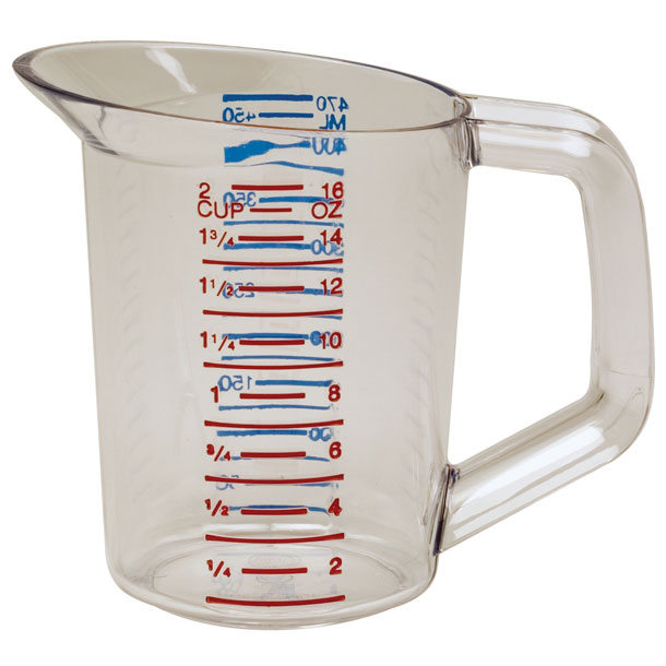 16 oz. Clear Bouncer Measuring Cup RCP3215CLE