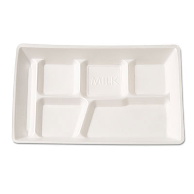 6-Compartment Foam School Tray - 12.5