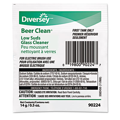 Diversey Beer Clean Low Suds Glassware Cleaner