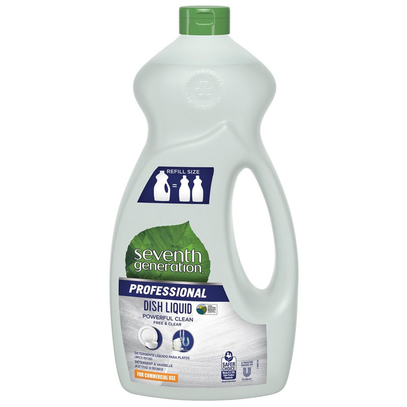 free clear natural dishwashing liquid neutral 48oz bottle unoclean. Black Bedroom Furniture Sets. Home Design Ideas