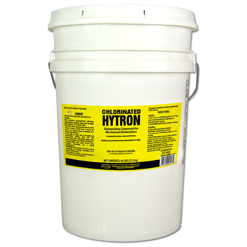 Stearns [ST-452] Hytron® Chlorinated Automatic Dishwasher Detergent - 60 lb. Pail