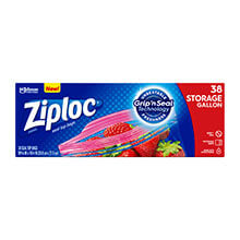 Ziploc Double Zipper Multi-Purpose Storage Bag