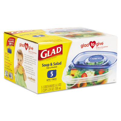 Glad Soup & Salad Plastic Container