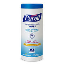 "GOJO PURELL Instant Hand Sanitizing Wipes - 7"" x 8"""