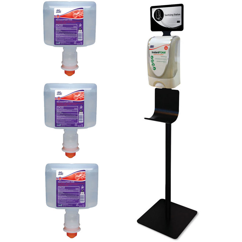 Instant Foam Antibacterial Hand Sanitizing Station Kit