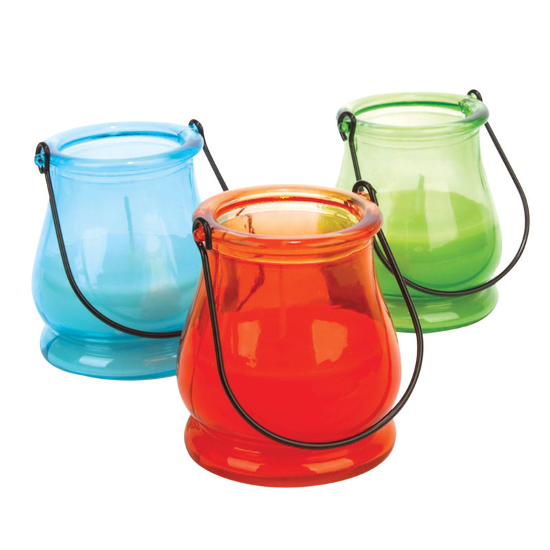Sierra Color Assorted Lantern Jar Citronella Candles