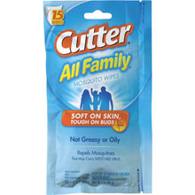 Cutter All Family Insect Repellent Wipes 766313