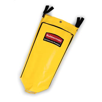 Rubbermaid [9T80] Janitorial Cart High Capacity Vinyl Replacement Bag - Yellow - 33 Gallon Capacity
