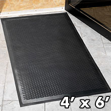 Solid Rubber Scraper Mat - Black - 4' x 6' - Indoor/Outdoor GM-CSS-4X6