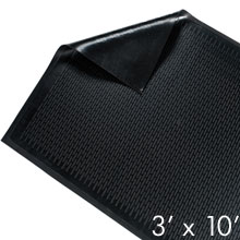 Solid Rubber Scraper Mat - Black - 3' x 10' - Indoor/Outdoor GM-CSS-3X10