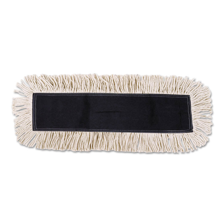 Disposable Cotton/Synthetic Dust Mop Head w/ Sewn Fringe - 36