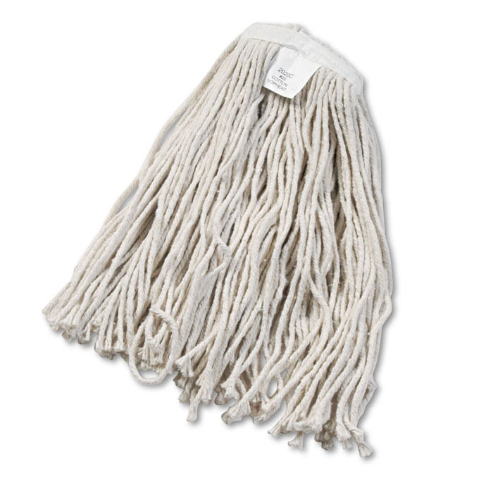Cut-End Cotton Wet Mop Head, #20 Size - 12 Pack