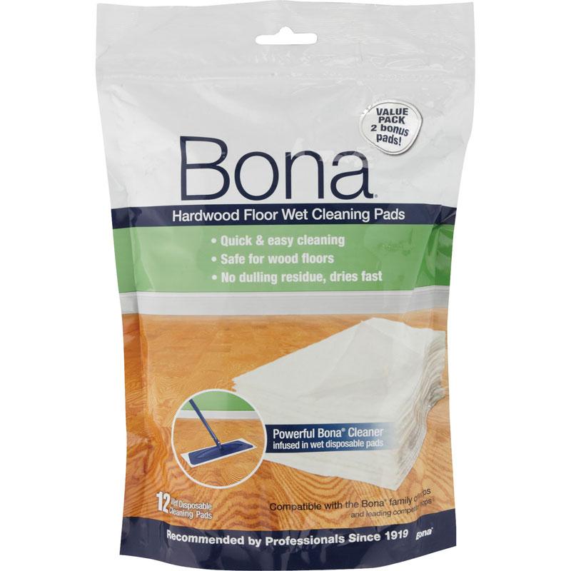 Bona Hardwood Floor Wet Cleaning Pads - 12 Pads - Bona Hardwood Floor Wet Cleaning Pads - UnoClean