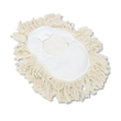 Wedge Dust Mop Head, Cotton, 17 1/2l x 13 1/2w, White UNS1491
