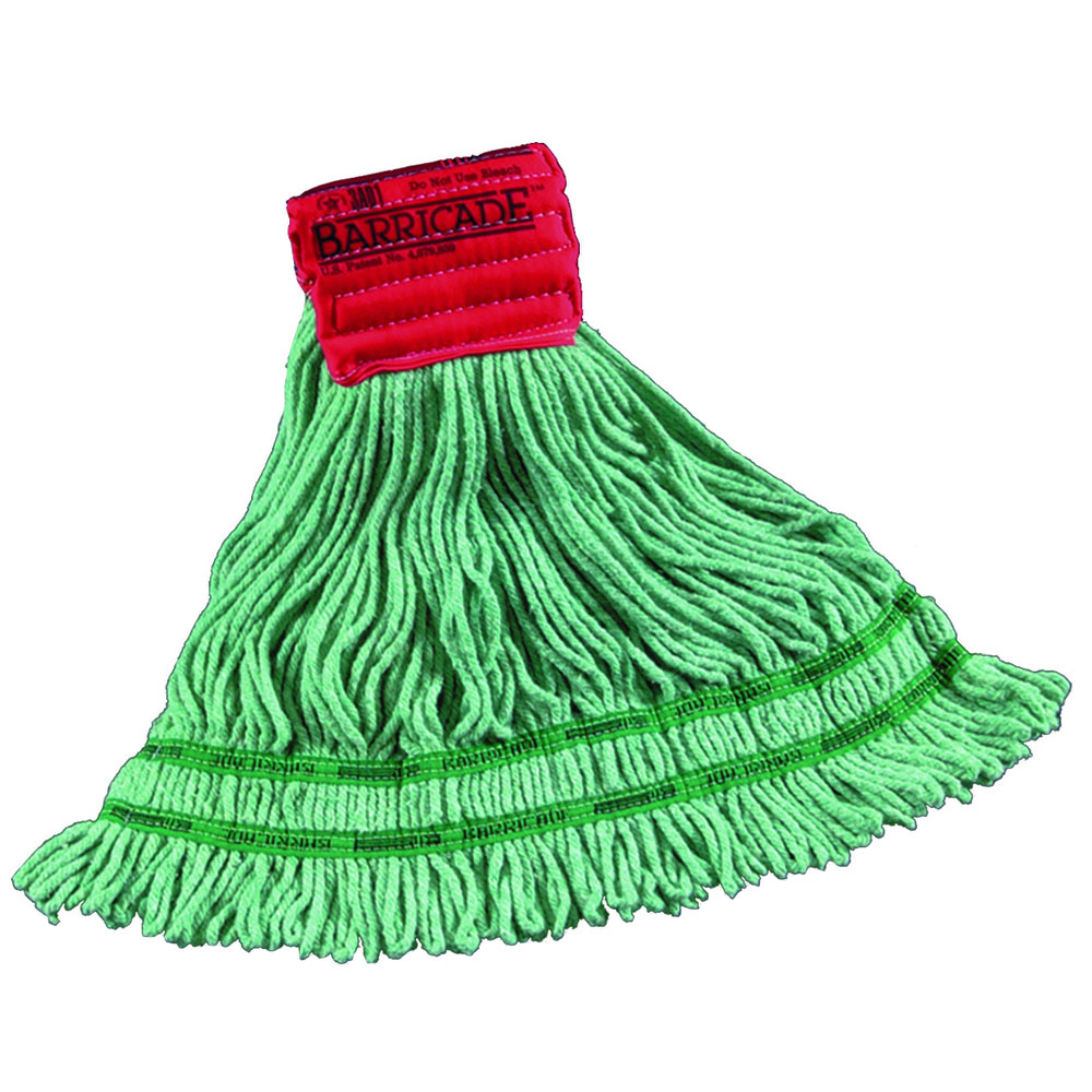 Barricade Antimicrobial Wet Mop - Large - 1-1/4