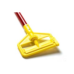 Rubbermaid [H146-RED] Invader® Side Gate Wet Mop Handle - Plastic Yellow Head - 60