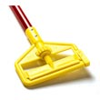 "Rubbermaid [H146-RED] Invader® Side Gate Wet Mop Handle - Plastic Yellow Head - 60"" Red Fiberglass Handle"