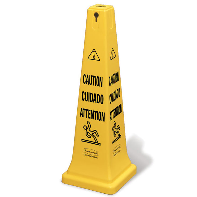 Rubbermaid Multi-Lingual Caution Safety Cone