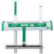 "Unger [HU45] Hold Up Wall Mount Aluminum Tool Rack, Mop & Broom Holder - 18"" Length UNGHU45"