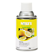 Misty Metered Dry Deodorizer Refill, Lemon Peel - (12) 7 oz. Cans AMRA211-12-LP