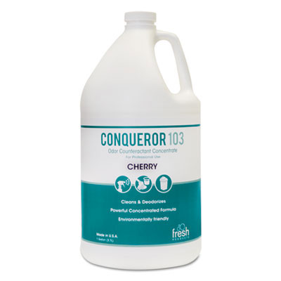 Conqueror 103 Odor Counteractant, Cherry - (4) 1 Gallon Bottles FRS1-WB-CH