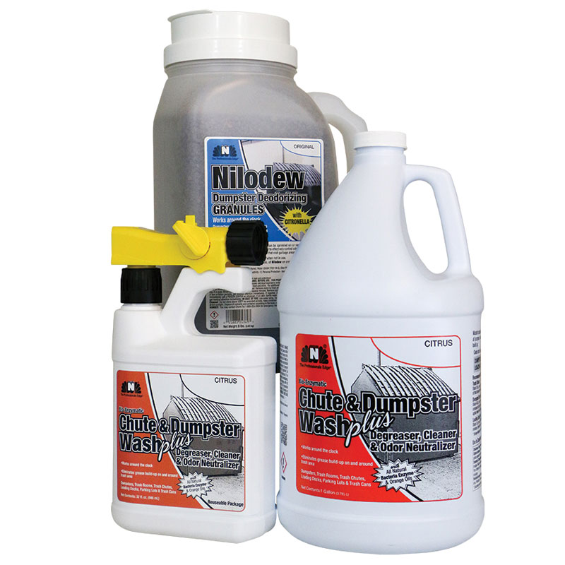 Nilodor Chute & Dumpster Wash PLUS Bio-Enzymatic Cleaning Kit