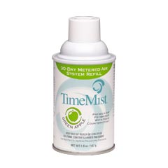 TimeMist® Premium Metered Aerosol Air Freshener 30-Day Refill - Green Apple - (12) 6.6 oz. Cans