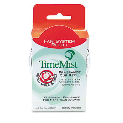 TimeMist® Continuous Fan Air Freshener Fragrance Refill - Dutch Apple & Spice - 12 Per Box