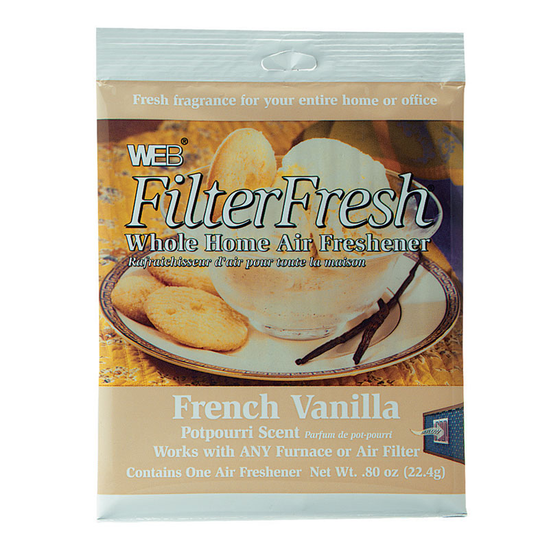 Web Filter Fresh French Vanilla Scented Air Freshener Pads