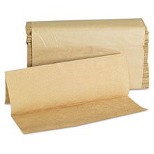 "Natural Multifold Paper Towels - 9"" x 9.45"" - (16) 250 Towels GEN1508"