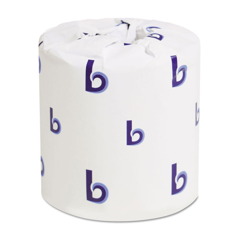 Bathroom Tissue, Standard, 2-Ply, White, 4 x 3 Sheet, 500 Sheets/Roll