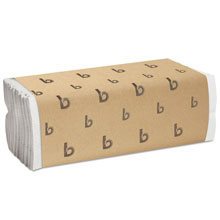 "C-Fold Paper Towels, White - 10"" x 11.44"" - (12) 200 Towels BWK6220"