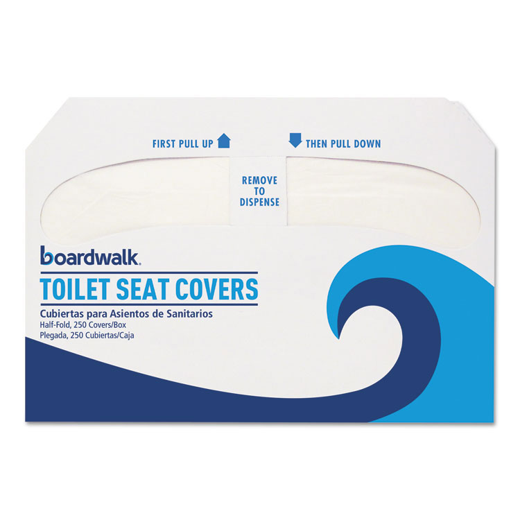 Boardwalk Premium Toilet Seat Covers - Half-Fold - (10) 250 Cover Packs
