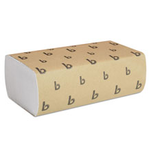"White Multifold Paper Towels - 9"" x 9.45"" - (16) 250 Towels BWK6200"