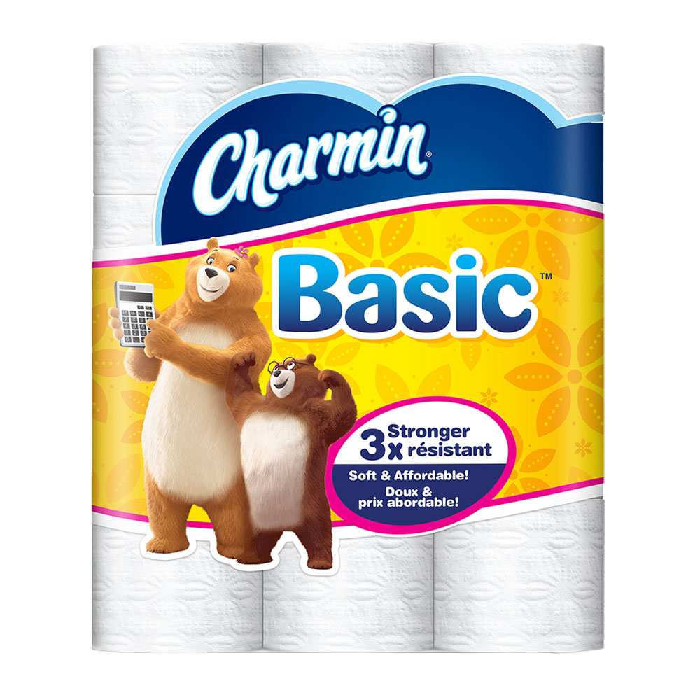 Charmin Basic 1-Ply Toilet Paper Rolls