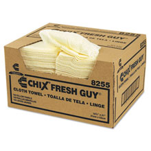 "Fresh Guy Towels, 13.5"" x 13.5"", Yellow CHI8255"